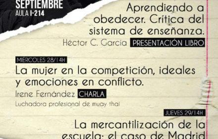 """[27S] Presentación de """"Aprendiendo a obedecer"""" en la Universidad Autónoma de Madrid"""