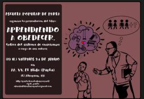 """[24J] Presentación de """"Aprendiendo a obedecer"""" en la Escuela Popular de Parla"""