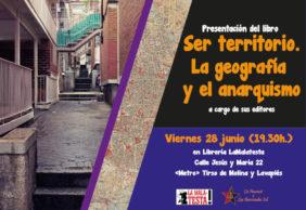 """[28J] Presentación de """"Ser Territorio. La geografía y el anarquismo"""" en Madrid"""