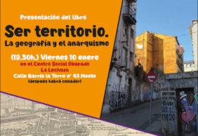 [10Enero] Presentación de «Ser territorio. La geografía y el anarquismo» en Santander